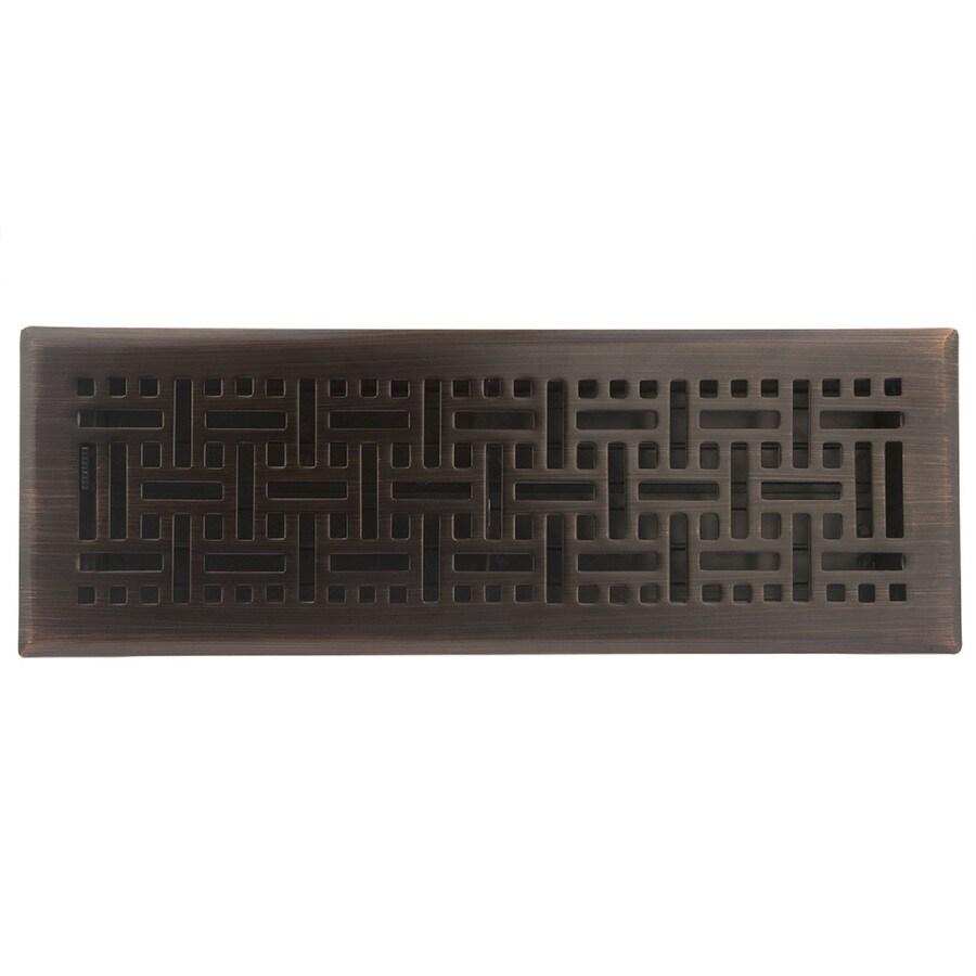 allen + roth Wicker Oil-Rubbed Bronze Steel Floor Register (Rough Opening: 14-in x 4-in; Actual: 15.42-in x 5.37-in)