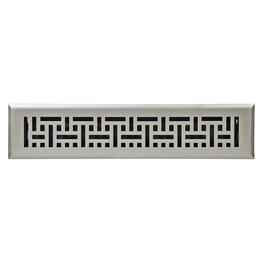 Accord Wicker Satin Nickel Steel Floor Register (Rough Opening: 14-in x 2-in; Actual: 15.42-in x 3.6-in)