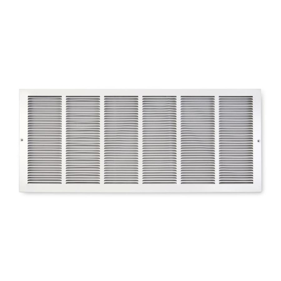 Accord 195 Series White Steel Louvered Baseboard Grilles (Rough Opening: 30-in x 6-in; Actual: 31.75-in x 7.75-in)