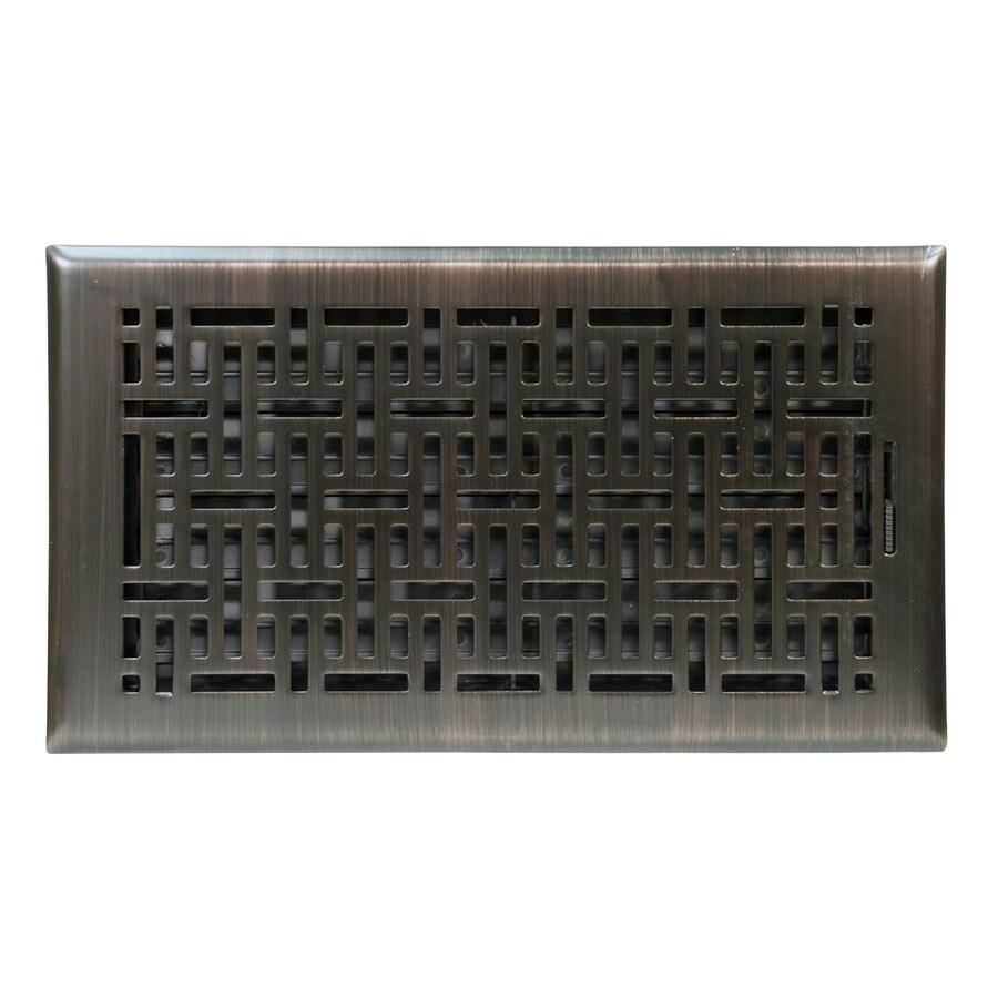 Accord 6-in x 12-in Oil-Rubbed Bronze Steel Floor Register