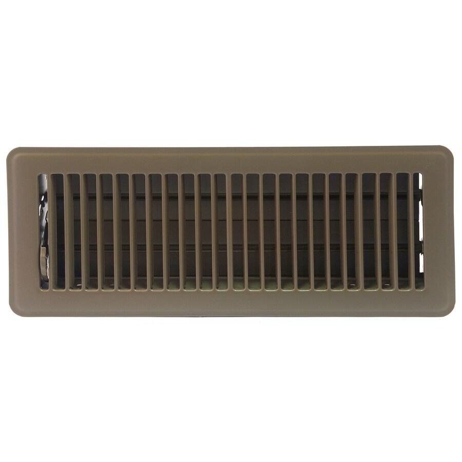 Accord Ventilation 101 Series Painted Steel Floor Register (Rough Opening: 10-in x 3-in; Actual: 11.5-in x 4.5-in)