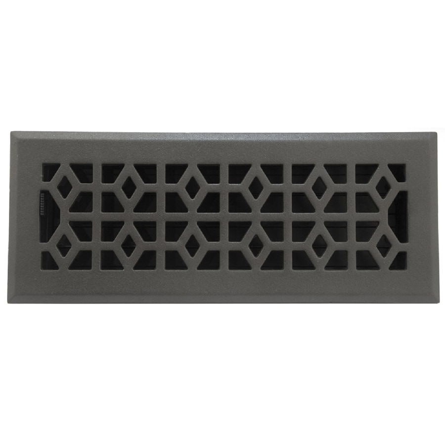 allen + roth Marquis Cast Iron Floor Register (Rough Opening: 12-in x 4-in; Actual: 13.5-in x 5.39-in)