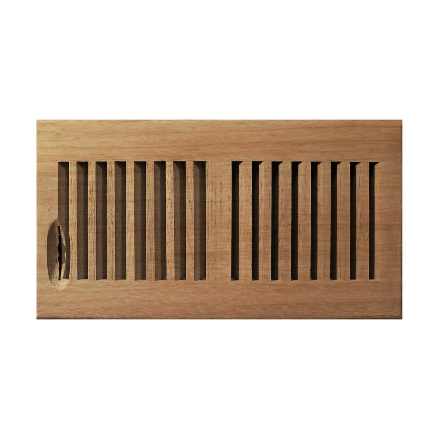 Shop accord 6 in x 14 in unfinished wood floor register at for Wood floor registers 6 x 14