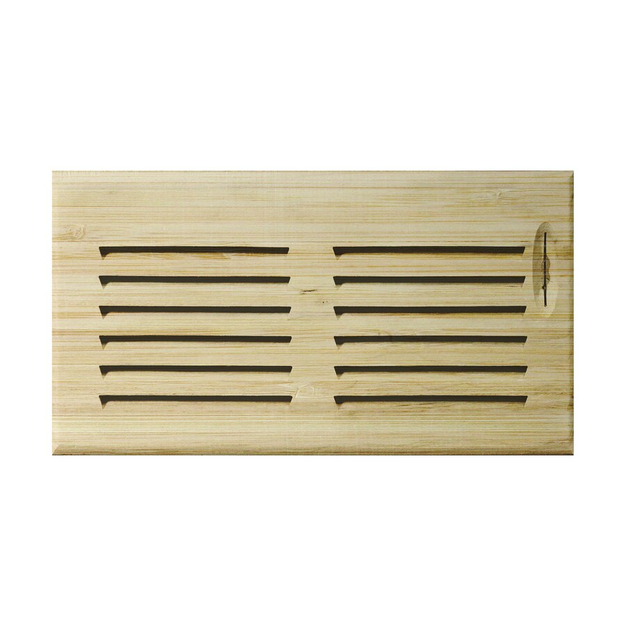 Accord 4-in x 14-in Unfinished Wood Floor Register