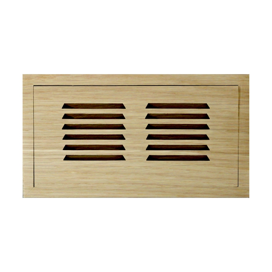 Accord 4-in x 10-in Unfinished Wood Floor Register