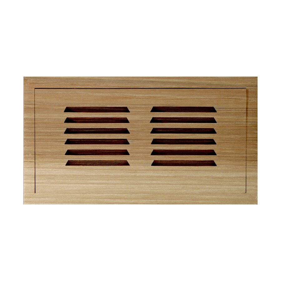 Shop accord 4 in x 10 in unfinished wood floor register at for 8x10 wood floor registers