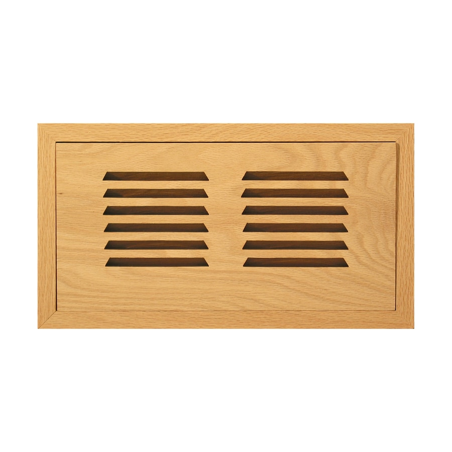 Accord 6-in x 10-in Unfinished Wood Floor Register