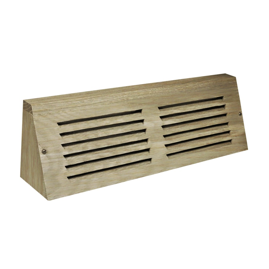 Accord 15-in Unfinished Wood Baseboard Register