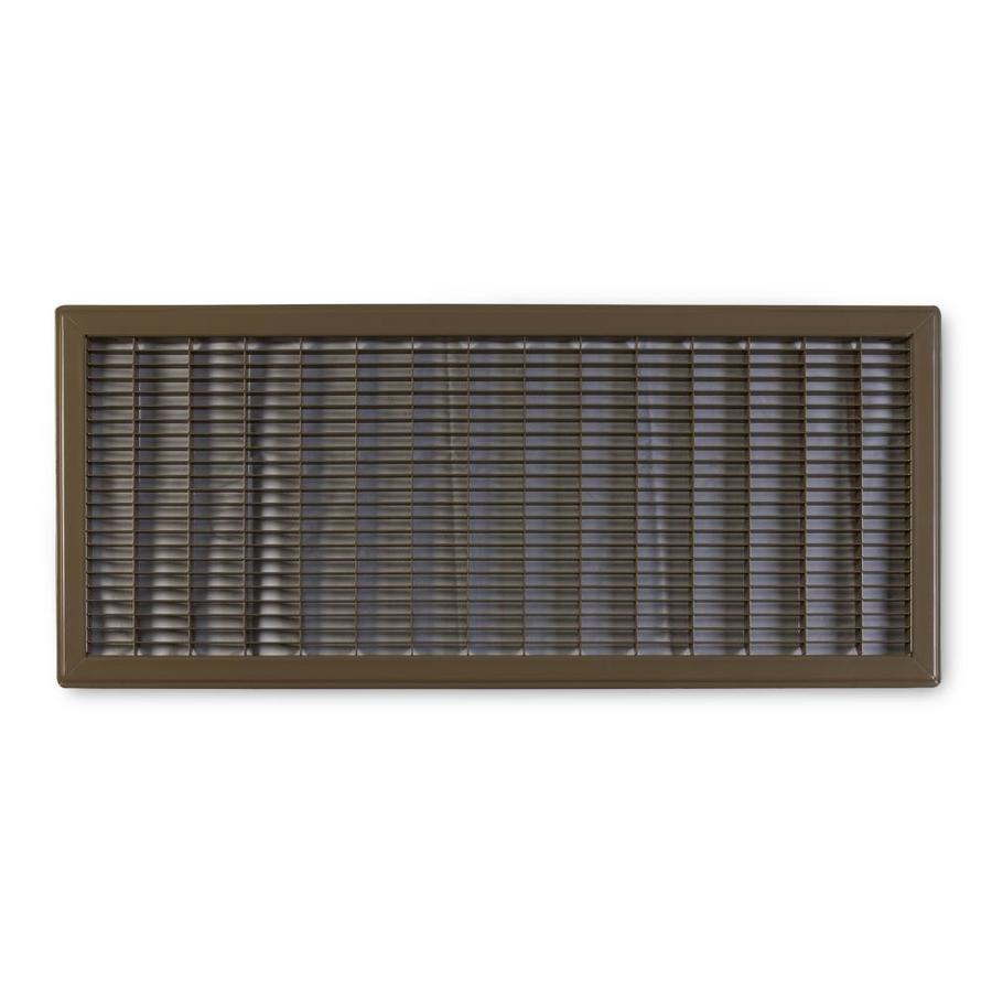 Accord Ventilation 120 Series Brown Steel Louvered Floor Grilles (Rough Opening: 12-in x 20-in; Actual: 13.73-in x 21.73-in)