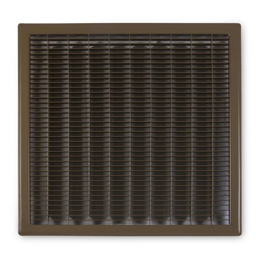 Accord Ventilation 120 Series Brown Steel Louvered Floor Grilles (Rough Opening: 20-in x 20-in; Actual: 21.73-in x 21.73-in)
