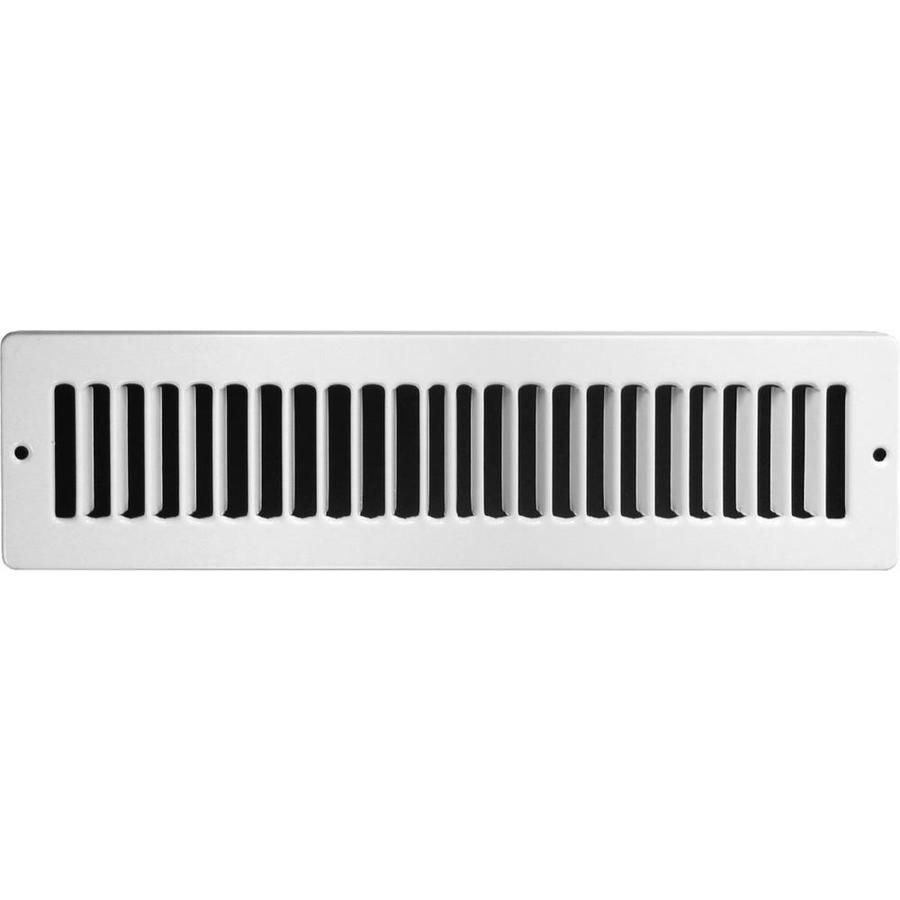 Accord Ventilation 105 Series White Steel Louvered Toe Space Grilles (Rough Opening: 2-in x 10-in; Actual: 3.35-in x 11.11-in)