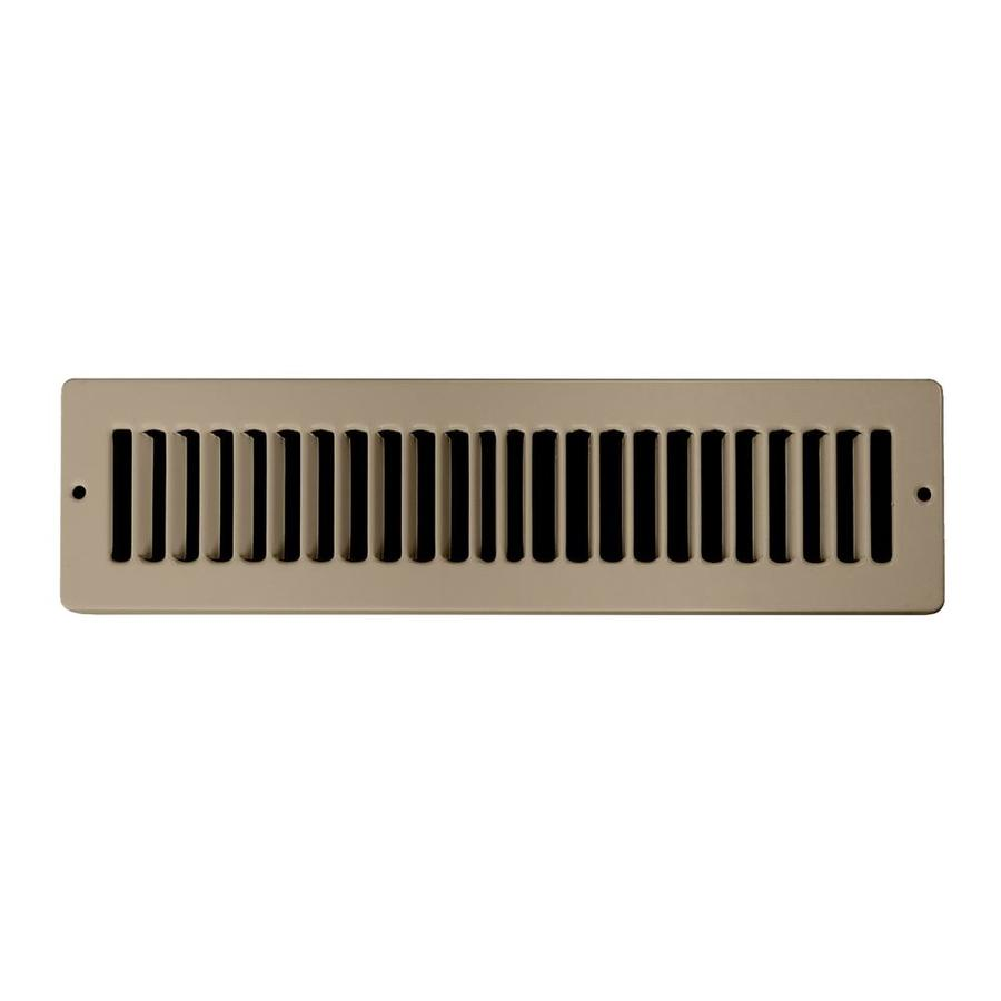 Accord Ventilation 105 Series Brown Steel Louvered Toe Space Grilles (Rough Opening: 2-in x 14-in; Actual: 3.35-in x 15.12-in)