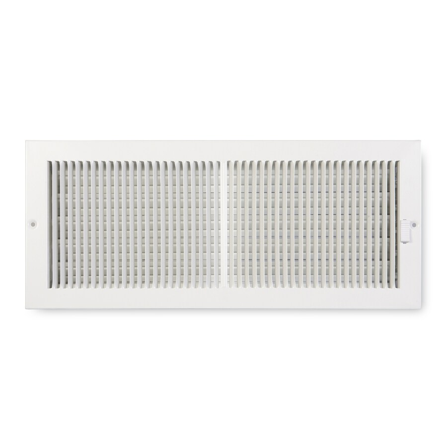 Accord Ventilation 222 Series Painted Steel Sidewall/Ceiling Register (Rough Opening: 6-in x 14-in; Actual: 15.25-in x 7.25-in)