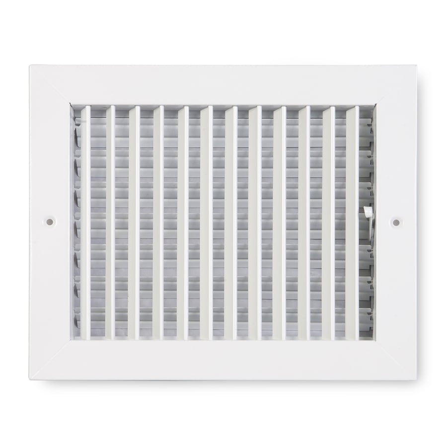 Accord Ventilation 411 Series Painted Steel Sidewall/Ceiling Register (Rough Opening: 8-in x 10-in; Actual: 11.84-in x 9.88-in)