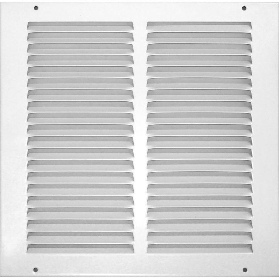 Accord Ventilation 515 Series White Steel Louvered Sidewall/Ceiling Grilles (Rough Opening: 8-in x 8-in; Actual: 9.75-in x 9.75-in)
