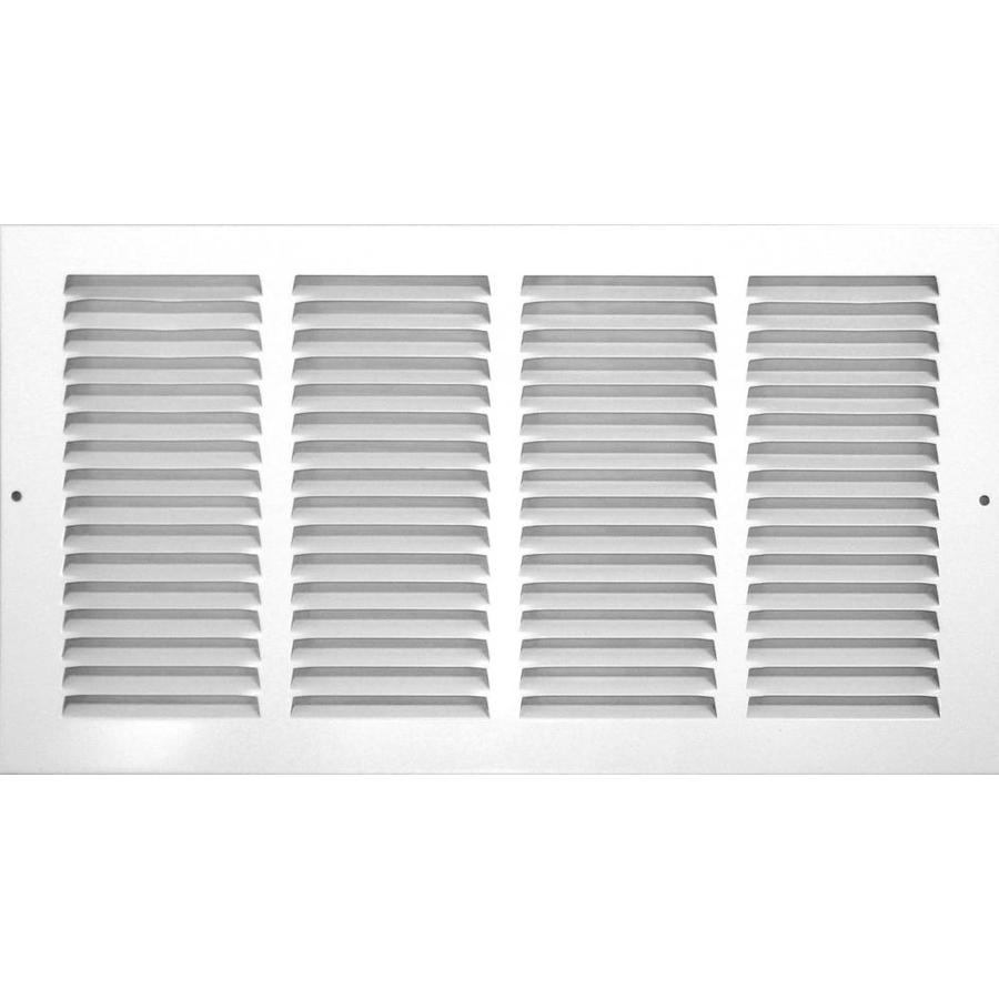 Accord Ventilation 515 Series White Steel Louvered Sidewall/Ceiling Grilles (Rough Opening: 12-in x 6-in; Actual: 13.75-in x 7.75-in)
