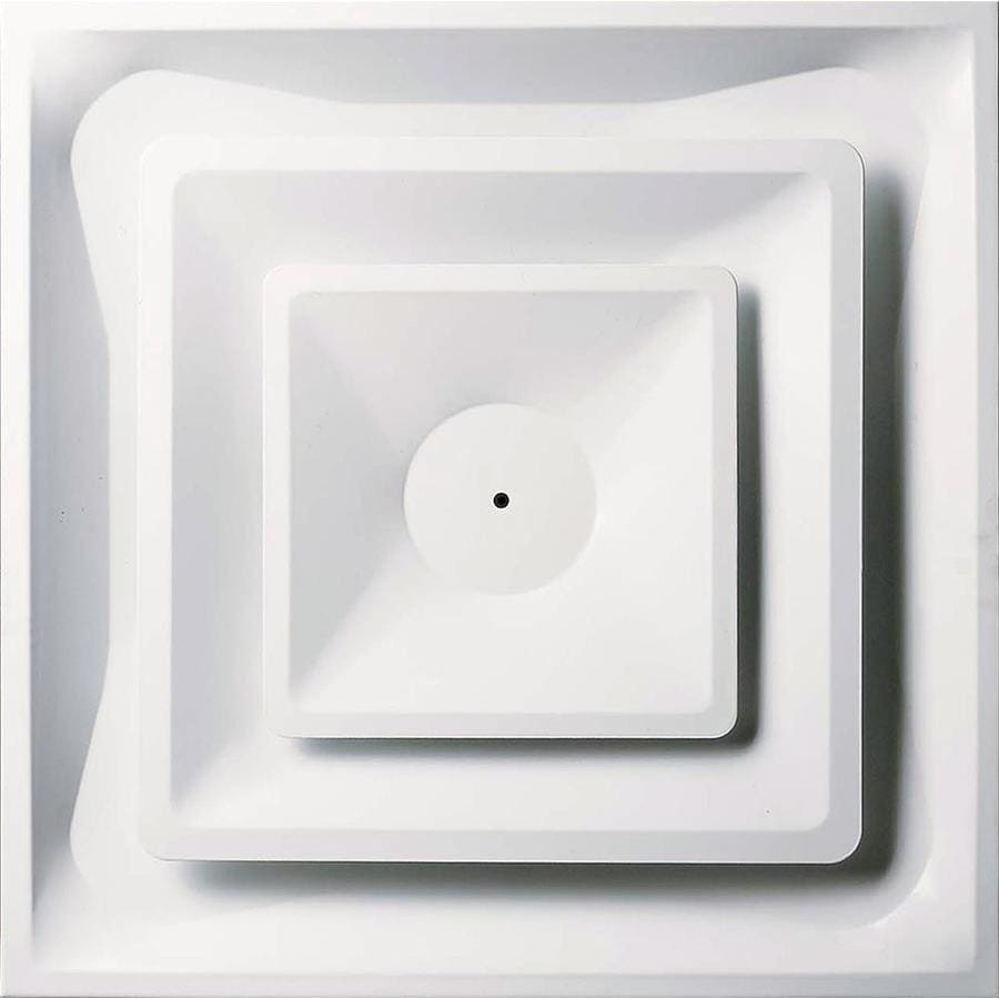 Accord Ventilation 952 Series White Steel Ceiling Diffuser (Rough Opening: 24-in x 24-in; Actual: 24-in x 24-in)