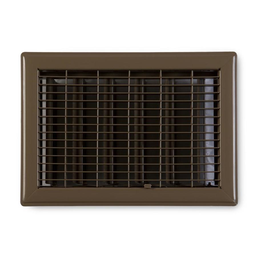 Accord Ventilation 115 Series Painted Steel Floor Register (Rough Opening: 12-in x 6-in; Actual: 13.73-in x 7.73-in)