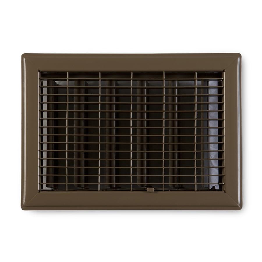 Accord Ventilation 115 Series Painted Steel Floor Register (Rough Opening: 14-in x 8-in; Actual: 15.73-in x 9.73-in)