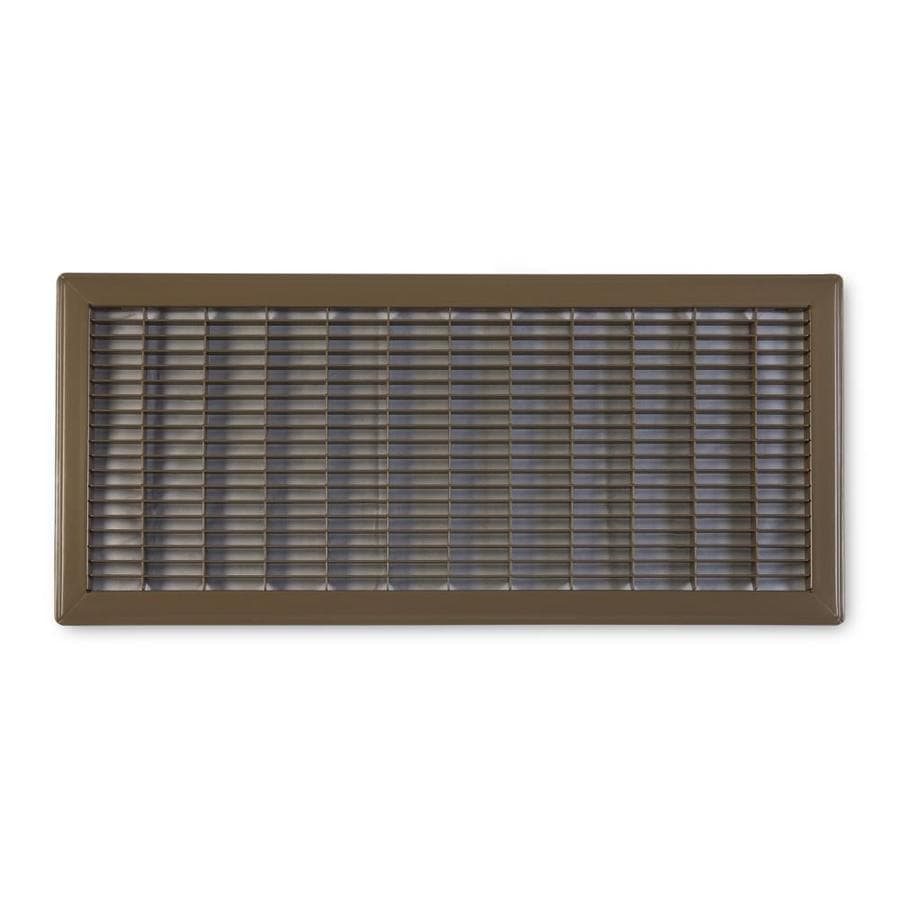 Accord Ventilation 120 Series Brown Steel Louvered Floor Grilles (Rough Opening: 10-in x 18-in; Actual: 11.73-in x 19.73-in)