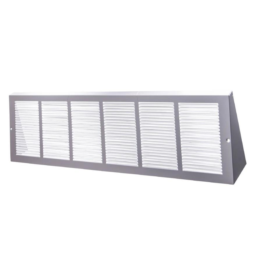 Accord Ventilation 170 Series White Steel Louvered Baseboard Grilles (Rough Opening: 14-in x 6-in; Actual: 15.75-in x 6.62-in)