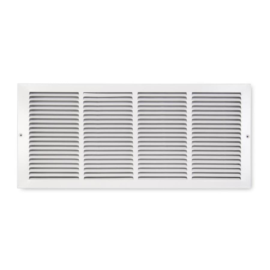 Accord Ventilation 185 Series White Steel Louvered Baseboard Grilles (Rough Opening: 24-in x 6-in; Actual: 25.75-in x 7.75-in)