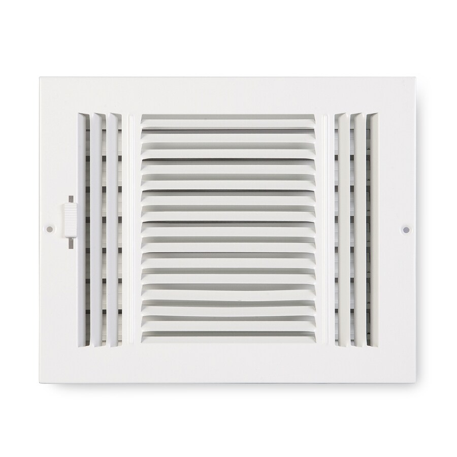 Accord Ventilation 203 Series Painted Steel Sidewall/Ceiling Register (Rough Opening: 6-in x 8-in; Actual: 9.75-in x 7.75-in)