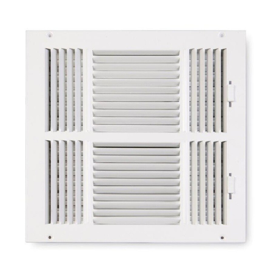 Accord Ventilation 203 Series Painted Steel Sidewall/Ceiling Register (Rough Opening: 10-in x 10-in; Actual: 11.75-in x 11.75-in)