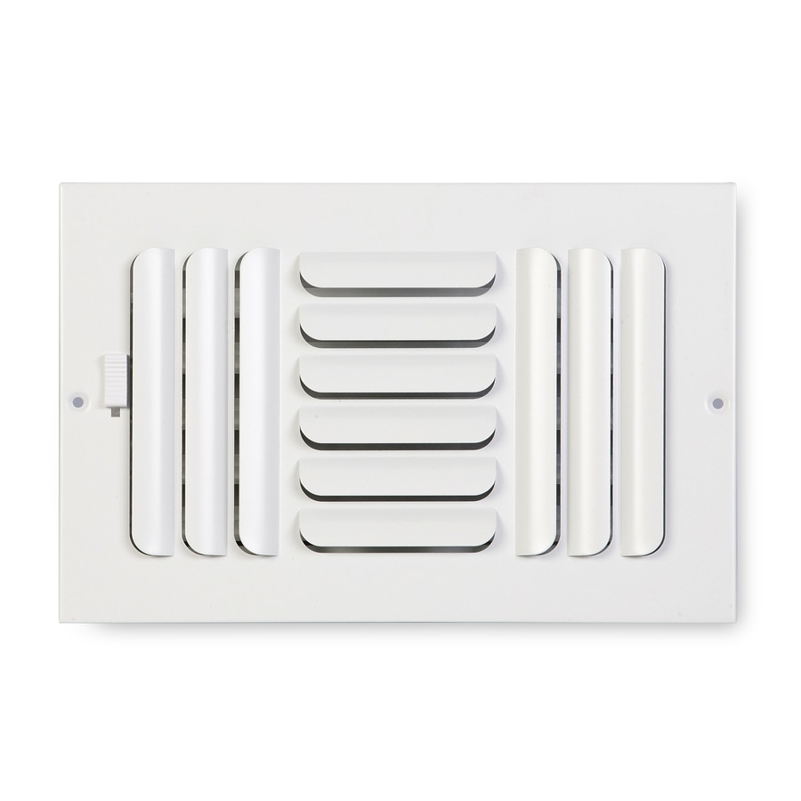 Accord Ventilation 263 Series Painted Steel Sidewall/Ceiling Register (Rough Opening: 6-in x 12-in; Actual: 13.75-in x 7.75-in)