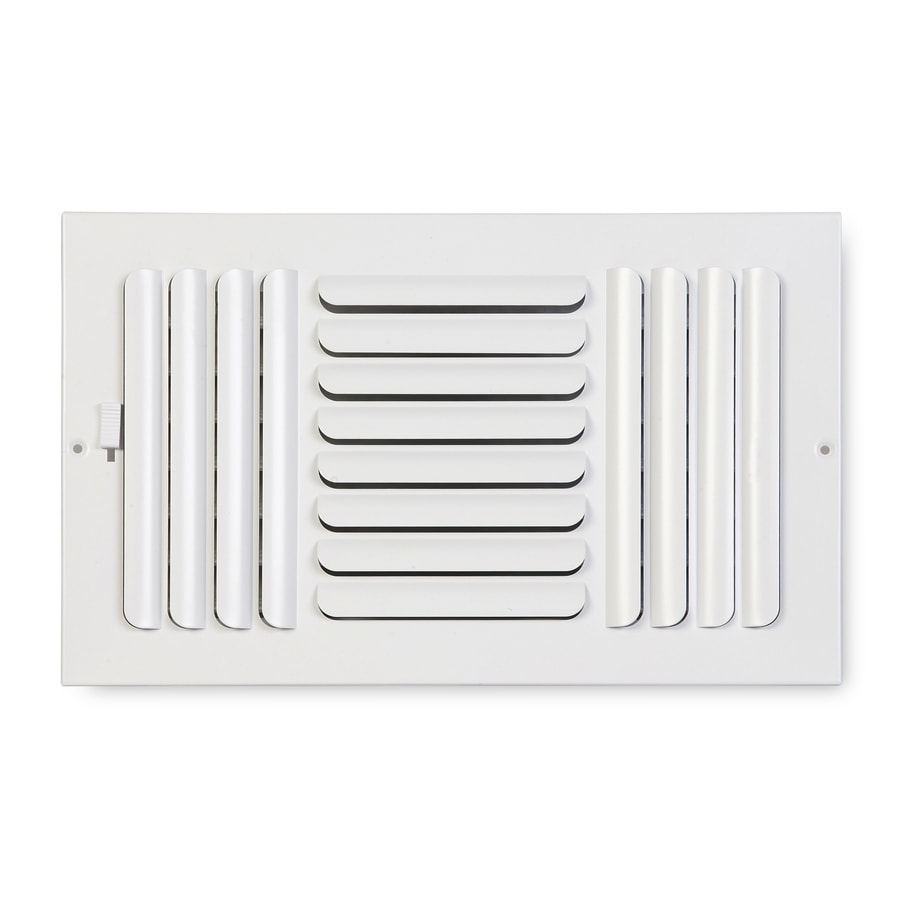 Accord Ventilation 263 Series Painted Steel Sidewall/Ceiling Register (Rough Opening: 8-in x 12-in; Actual: 13.75-in x 9.75-in)
