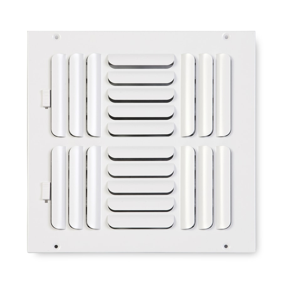Accord Ventilation 263 Series Painted Steel Sidewall/Ceiling Register (Rough Opening: 12-in x 12-in; Actual: 13.75-in x 13.75-in)