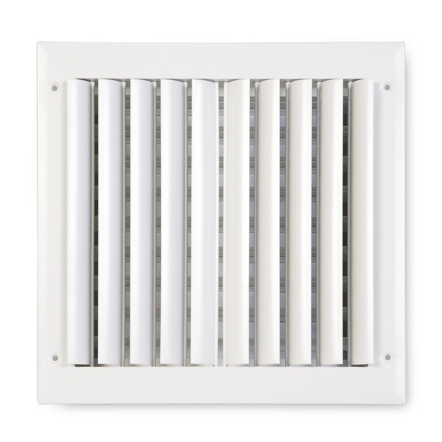 Accord Ventilation 282 Series Painted Aluminum Sidewall/Ceiling Register (Rough Opening: 10-in x 10-in; Actual: 11.75-in x 11.75-in)