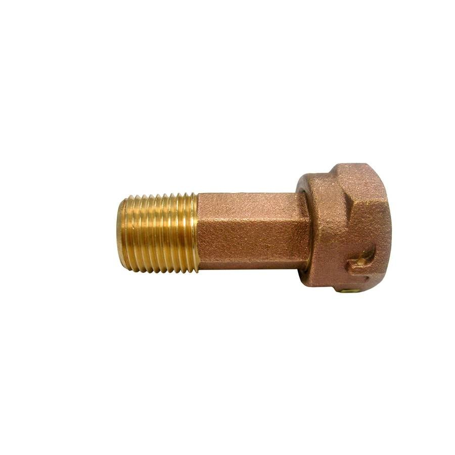 AMERICAN VALVE 1/2-in x 1/2-in Threaded Quick Connect x MIP Coupling Fitting