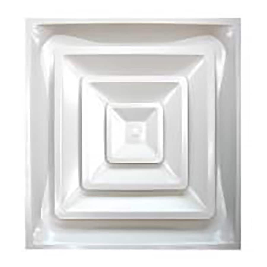 Accord Ventilation 962R6 White Steel Ceiling Diffuser (Rough Opening: 24-in x 24-in; Actual: 24-in x 24-in)