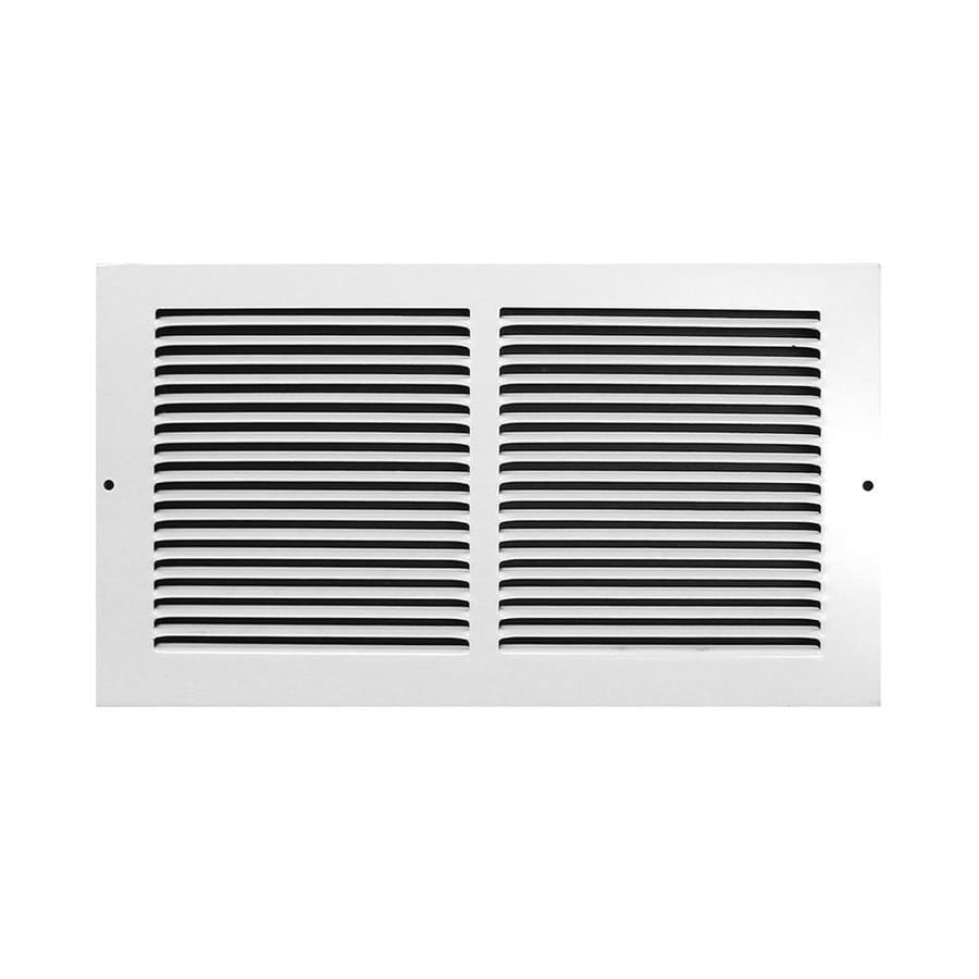 Accord Ventilation 185 Series White Steel Louvered Baseboard Grilles (Rough Opening: 12-in x 6-in; Actual: 13.75-in x 7.75-in)