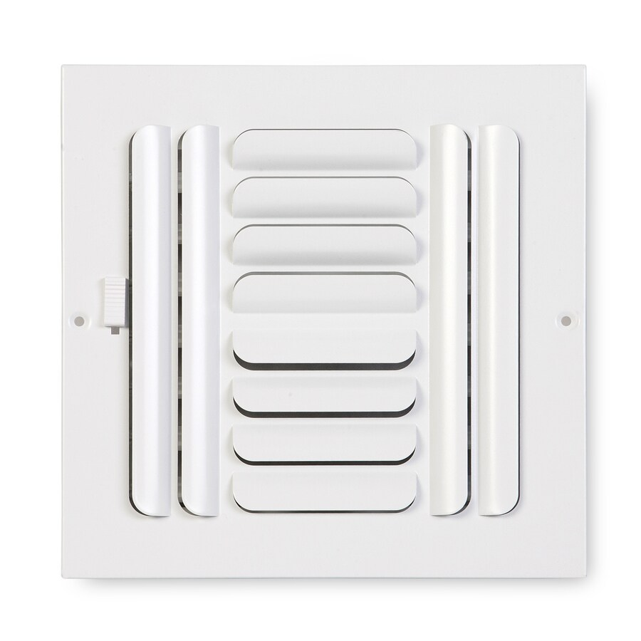 Accord Ventilation 264 Series Painted Steel Sidewall/Ceiling Register (Rough Opening: 6-in x 6-in; Actual: 7.75-in x 7.75-in)