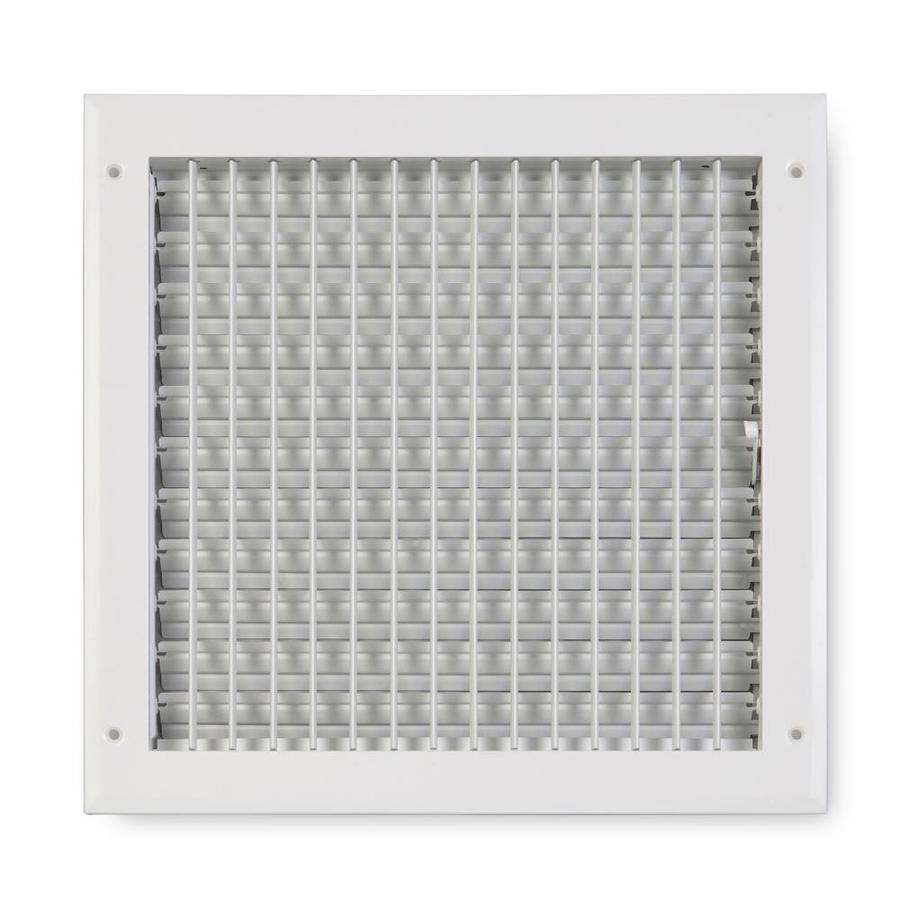 Accord Ventilation 270 Series Painted Aluminum Sidewall/Ceiling Register (Rough Opening: 14-in x 14-in; Actual: 15.75-in x 15.75-in)