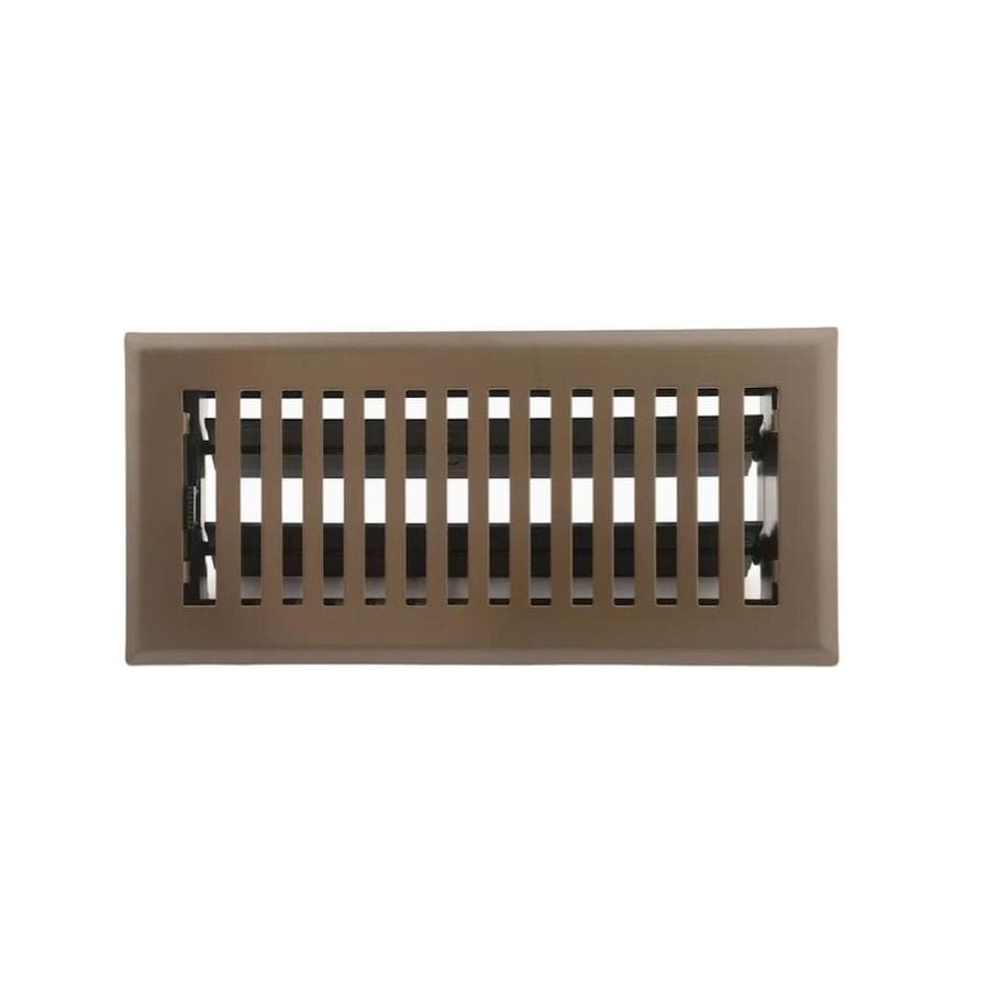 Accord Brooklyn Painted Steel Floor Register (Rough Opening: 10-in x 4-in; Actual: 11.42-in x 5.37-in)