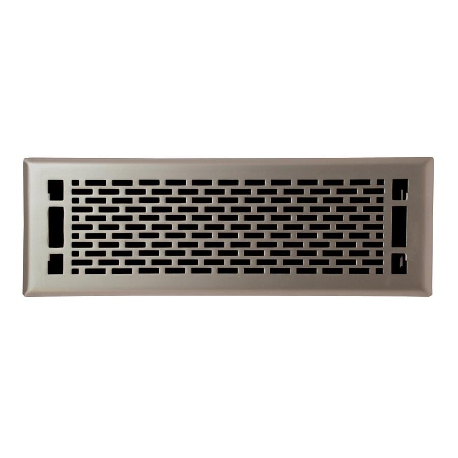 allen + roth Manhattan Satin Nickel Steel Floor Register (Rough Opening: 14-in x 4-in; Actual: 15.42-in x 5.37-in)