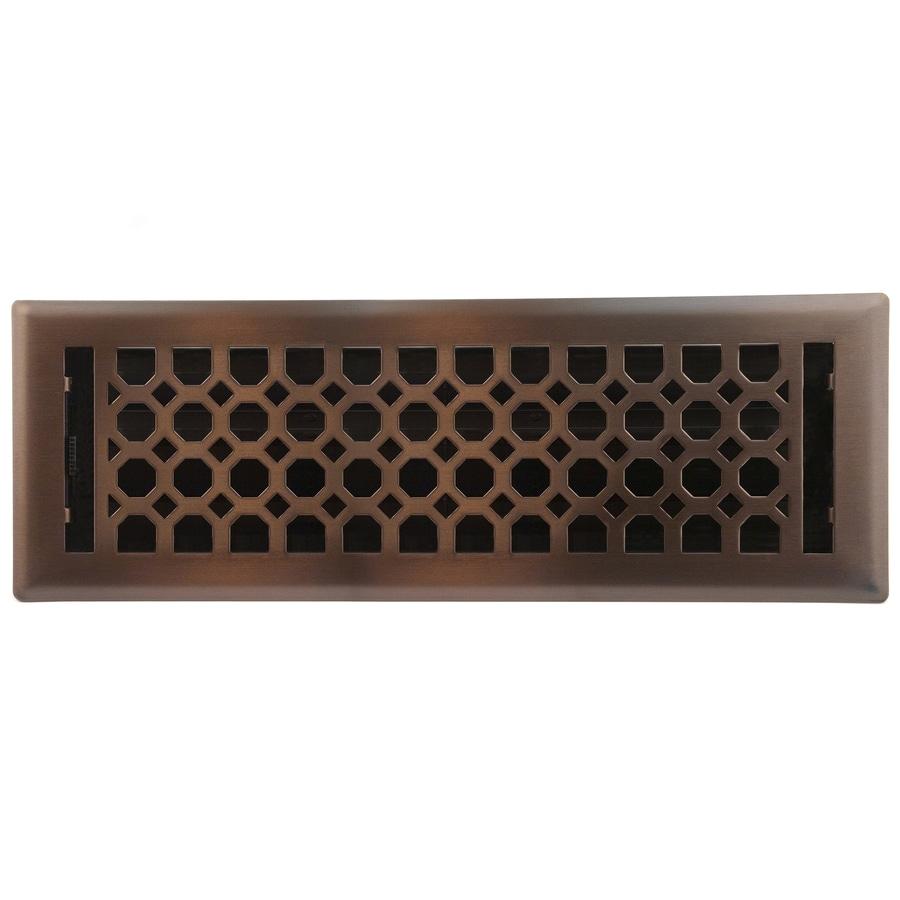 allen + roth Charlotte Oil-Rubbed Bronze Steel Floor Register (Rough Opening: 14-in x 4-in; Actual: 15.42-in x 5.37-in)