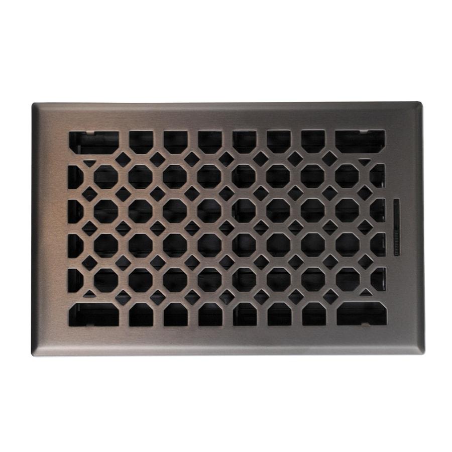 allen + roth Charlotte Oil-Rubbed Bronze Steel Floor Register (Rough Opening: 10-in x 6-in; Actual: 11.42-in x 7.37-in)