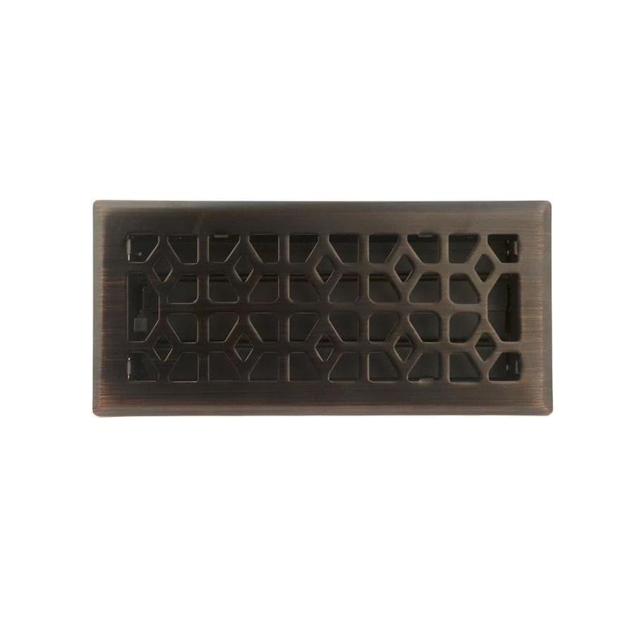 allen + roth Marquis Oil-Rubbed Bronze Steel Floor Register (Rough Opening: 10-in x 4-in; Actual: 11.42-in x 5.38-in)
