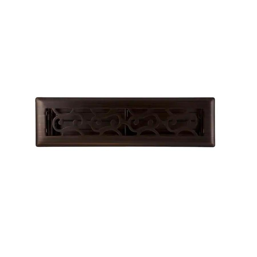 Accord Select Charleston Oil-Rubbed Bronze Steel Floor Register (Rough Opening: 12-in x 2-in; Actual: 13.42-in x 3.62-in)