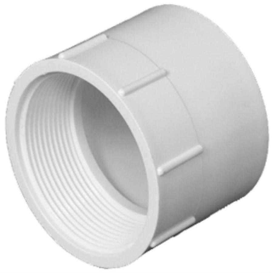Charlotte Pipe 4-in dia PVC Adapter Fitting