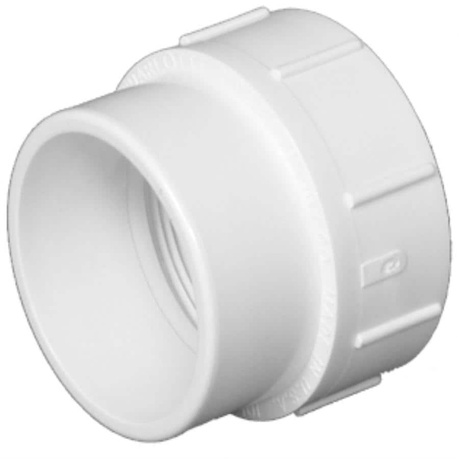 Charlotte Pipe 1-1/2-in Dia PVC Cleanout Adapter Fitting