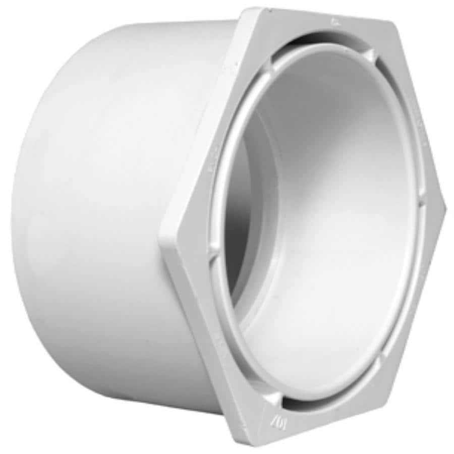 Charlotte Pipe 6-in x 4-in Dia PVC Flush Bushing Fitting