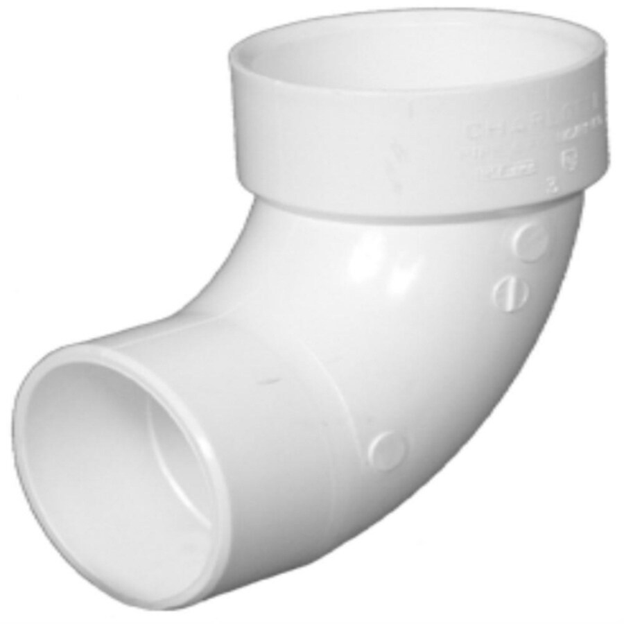 Charlotte Pipe 4-in dia 90-Degree PVC Street Elbow Fitting