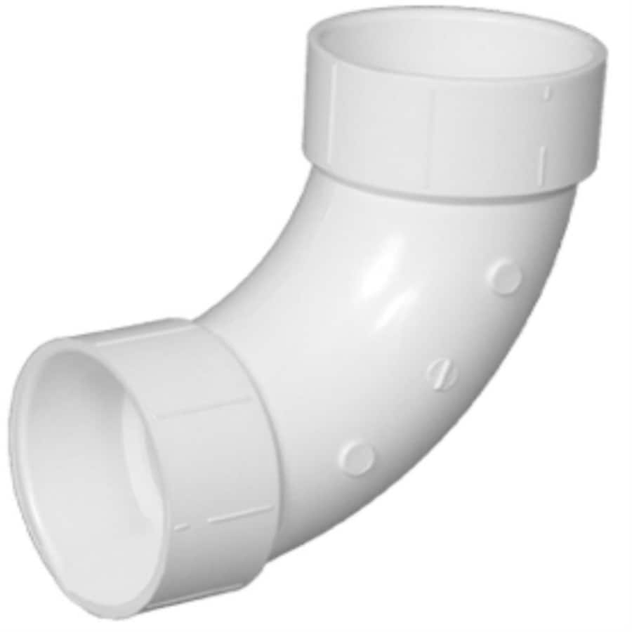 Charlotte Pipe 4-in dia 90-Degree PVC Elbow Long Sweep Fitting