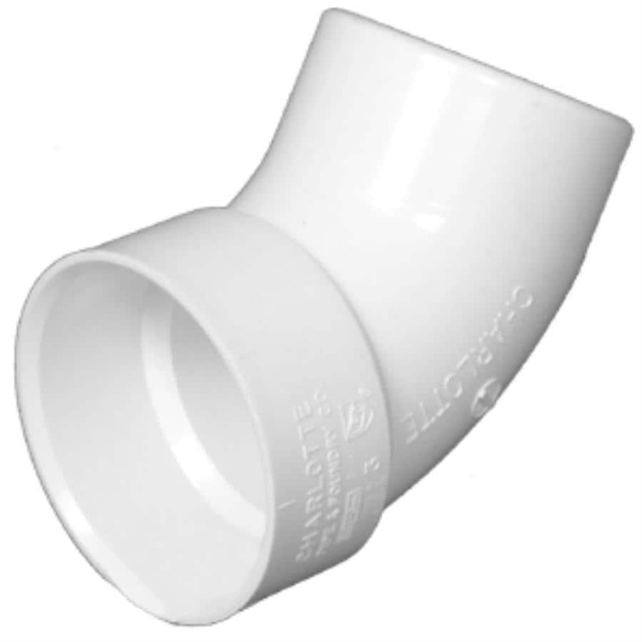 Charlotte Pipe 1-1/2-in dia 60-Degree PVC Street Elbow Fitting