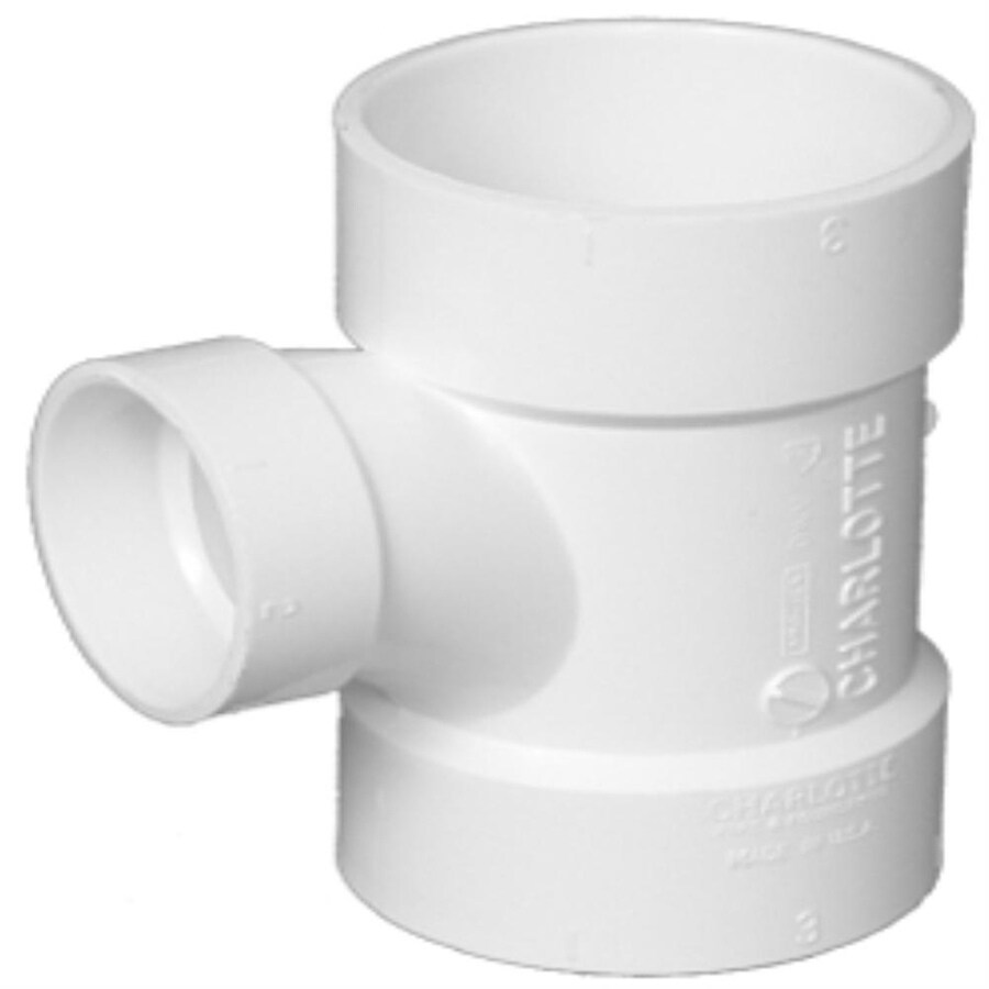 Charlotte Pipe 4-in x 4-in x 1.5- In Dia-Degree PVC Reducing Tee Fitting